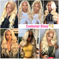 kisslovehair Brazilian Ombre Hair 613 Blond Body Wave 3 Bundles With 4x4 Closure Extensions