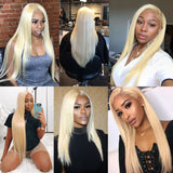 kisslovehair 613 Blonde 3 Bundles With 13*4 Frontal Straight Hair Remy Hair