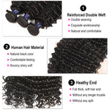 9A kisslove Brazilian Deep Wave 3 bundles With 13x4 Lace Frontal Human Hair