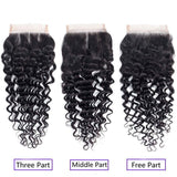 9ADeep Wave Bundles With Closure Kisslovehair 3Bundles With 4x4Lace Closure