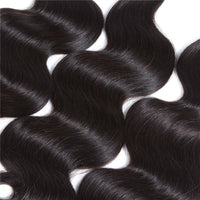 kisslovehair 9A Brazilian Body Wave 3 Bundles With Closure Human Hair Extension