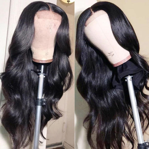 Body Wave Human Hair 4*4/5*5 Lace Closure Wigs With Baby Hair-KissLove Hair