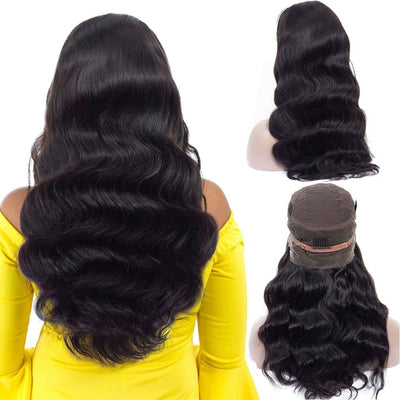 Pre Plucked 360 Lace Frontal Wigs with Baby Hair Brazilian Human Hair Body Wave Wig -KissLove Hair