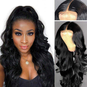 Body Wave Lace Front Human Hair Wigs Pre-plucked Peruvian Hair Wig -KissLove Hair