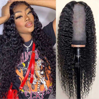 Deep Wave Closure Wig Human Hair Lace Wigs For Sale - KissLove Hair