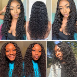9A kisslovehair Water Wave 3 Bundles with 4*4 Closure Remy Hair Weave
