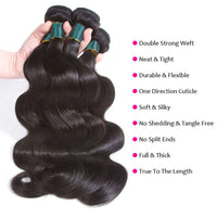 9A kisslovehair body wave 3 bundles with 13*4 frontal remy human hair free part