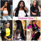 13*4/13*6 Lace Front Wigs Long Brazilian Straight Virgin Human Hair wigs-KissLove Hair