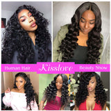 9A kissslove Bazilian Loose Wave 3 Bundles with 13*4 Frontal Remy Human Hair