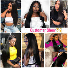 Load image into Gallery viewer, 9A kisslovehair Brazilian Straight 3 Bundles With 4*4 Closure remy Hair