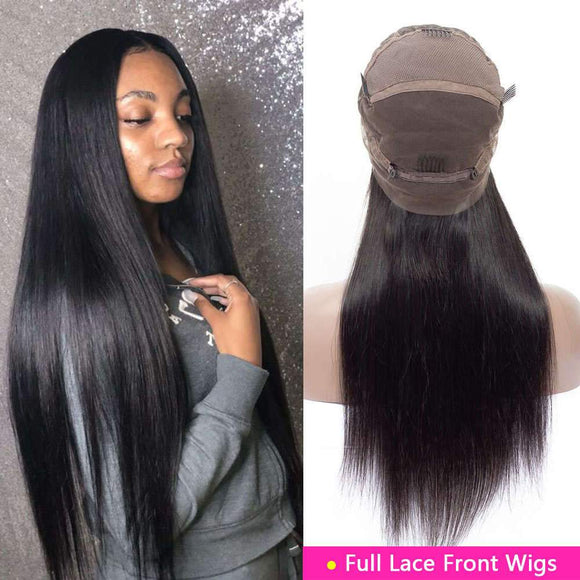 Brazilian Straight Hair Full Lace Wigs Human Hair For Sale -KissLove Hair