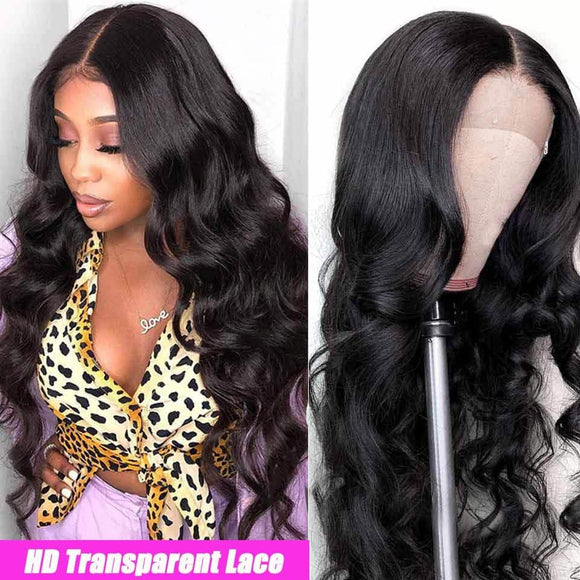 HD Lace Front Wigs Human Hair Body Wave Transparent Lace Wig-KissLove Hair