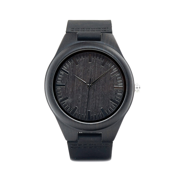 BOBO BIRD WD26  44mm Black Wood Watch