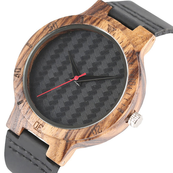 Weave 45mm Wood  Watch