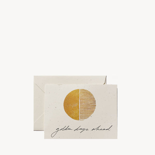 'Golden Days Ahead' Greeting Card