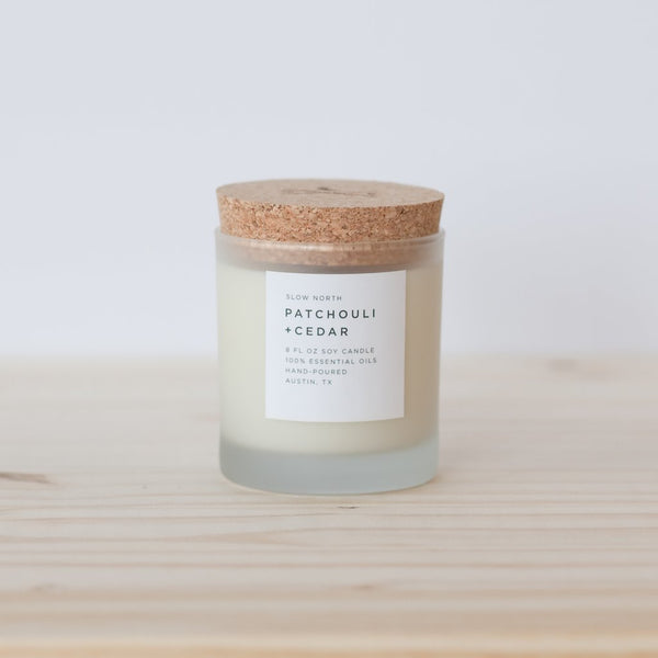 Patchouli + Cedar Candle