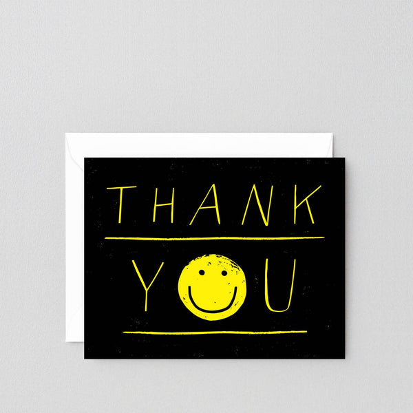 'Thank You Smiley' Greeting Card