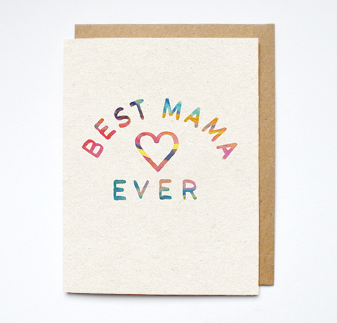 'Best Mama' Greeting Card