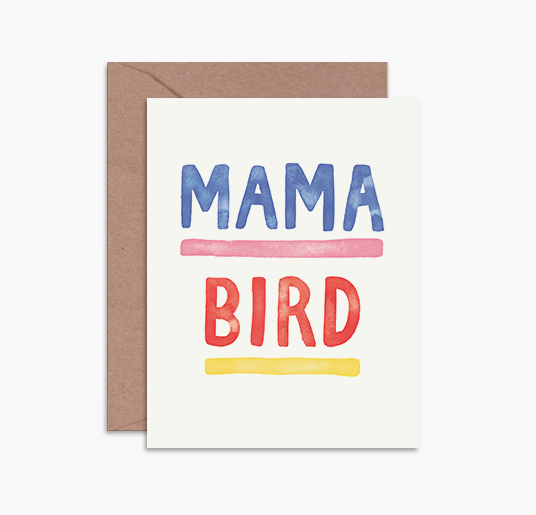 'Mama Bird' Greeting Card