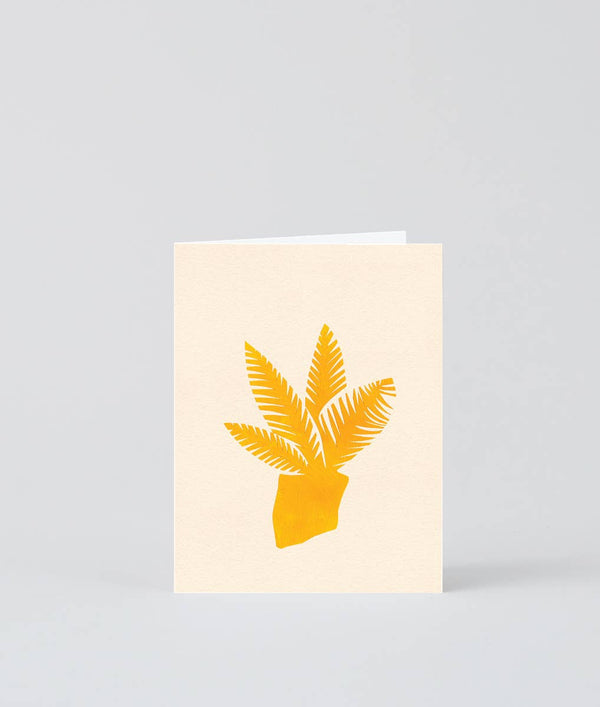'Yellow Plant' Mini Greeting Card