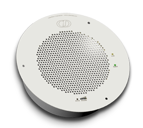 SIP-enabled IP Speaker - Gray White