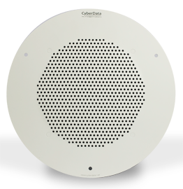 CyberData 011120 Auxiliary Analog Speaker - Gray White