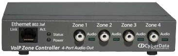 SIP Paging Zone Controller w/4 Port Audio Out