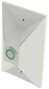 CyberData 011185 Remote Push To Talk Button (optional use with  Talk Backers) - Signal White