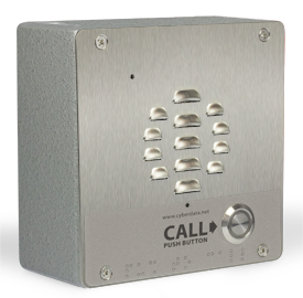 SIP Outdoor Intercom - Shown with Optional Shroud