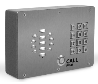 CyberData 011214 SIP Outdoor Intercom w/Keypad - Shown with Optional Shroud