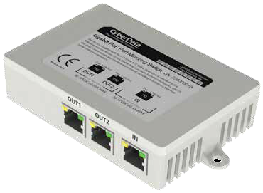 CyberData 011258  2 Port PoE Gigabit Port Mirroring Switch