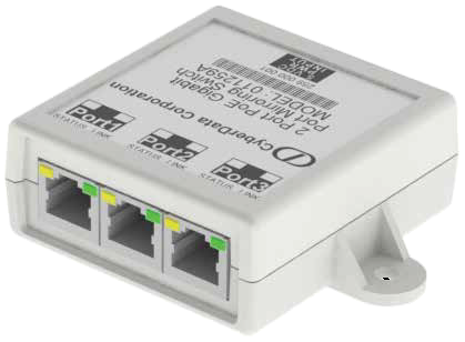 CyberData 011259 3 Port PoE Gigabit Port Mirroring Switch
