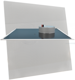 CyberData 011523 Auxiliary Analog 2 x 2 Ceiling Tile Drop-In Speaker
