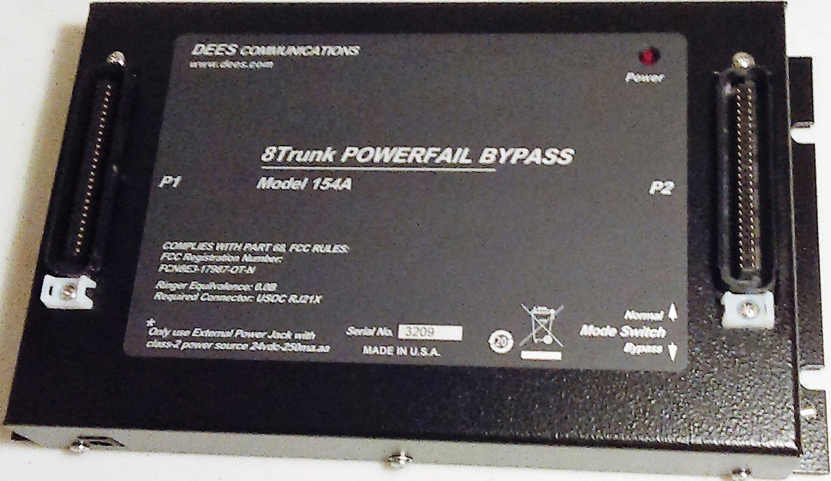 Dees Communications 154A-8/PSU Powerfail Bypass Unit 24V