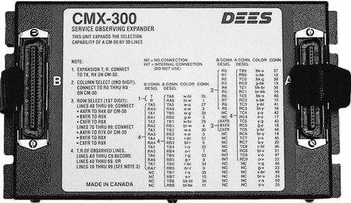 Dees Communications CMX-300 Service Observing Expander