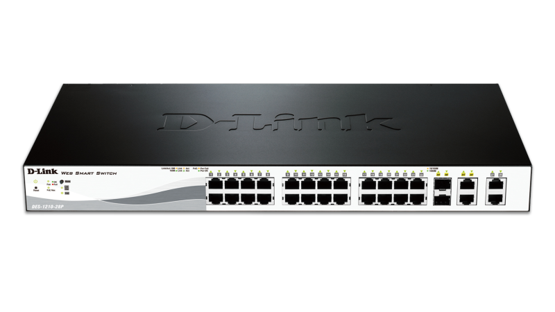 D-Link DES-1210-28P 1210 SERS SMART 24PRT 10/100 SWITCH 193W
