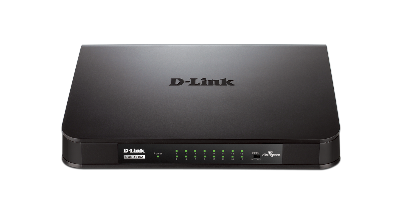 D-Link DGS-1016A SWITCH DSKTP 16P GIGABIT UNMANAGED