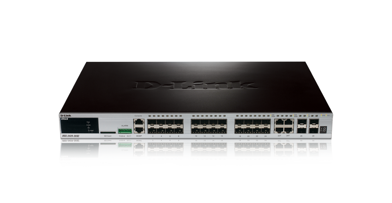 D-Link DGS-3420-28SC XSTACK 28 SFP PORT L2+ MANAGED SWITCH