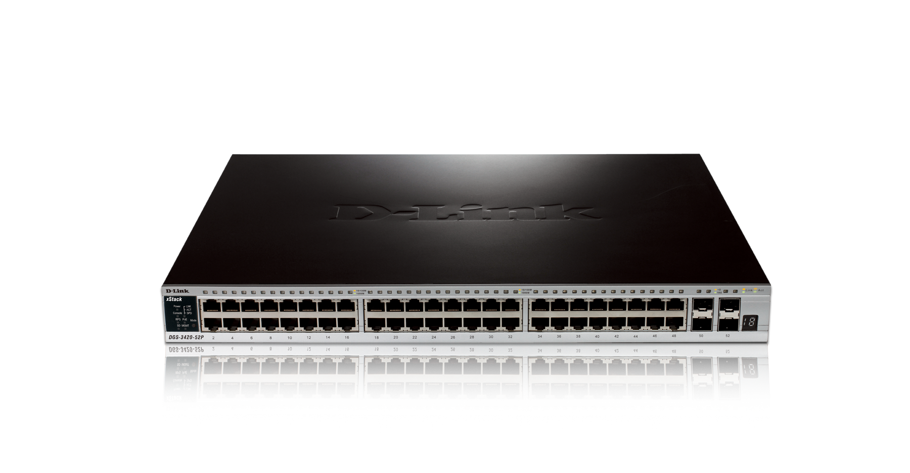 D-Link DGS-3420-52P XSTACK 48PORT GIGABIT L2 SWITCH 4 COMBO