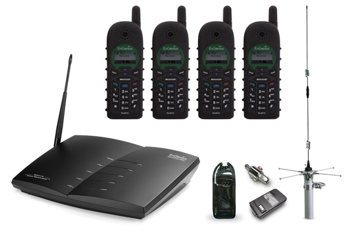 EnGenius DuraFon Pro-PIB20L V3-TAP DuraFon Pro V3 - TAP 1 Base 4 Handsets with Outdoor Antenna LPK
