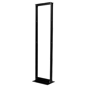 NetShelter 2 Post Rack 45U #12-24 Threaded Holes Black