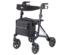 Alevo Country rollator front view midnight blue