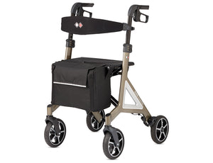 Alevo Country rollator front view platinum