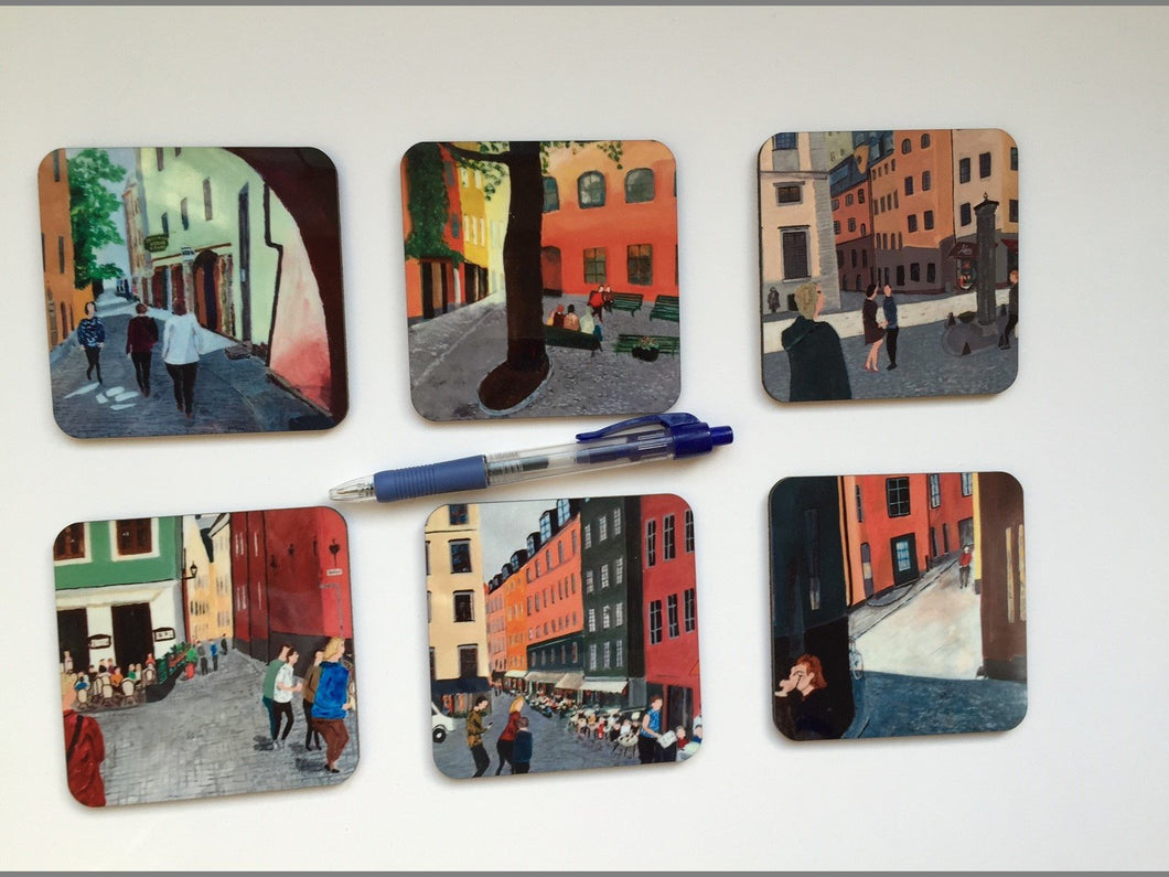 Coaster set Gamla Stan (Old Town)