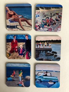 Coaster set Haverdal by the sea