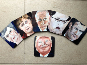 Coaster set of international politicians