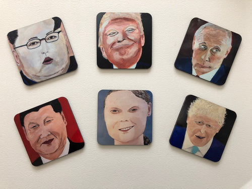 Coaster set of international politicians 3