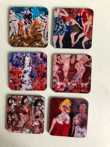 Coaster set Women and Party