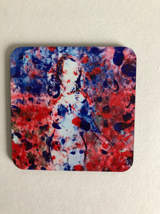 "Coaster ""Vallmoflicka (Poppy girl)"""