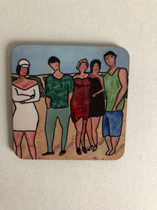 "Coaster ""Samling på stranden (Gather on the beach)"""